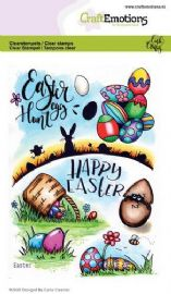 Craft Emotions Clear Stamps A6 - Easter 1 - Carla Creaties